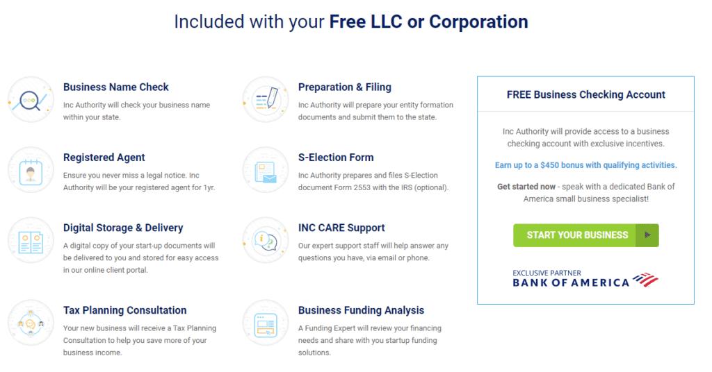 free corporation features incauthority